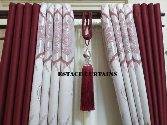 CURTAINS WITH WHITE PRINTED SHEERS image 3