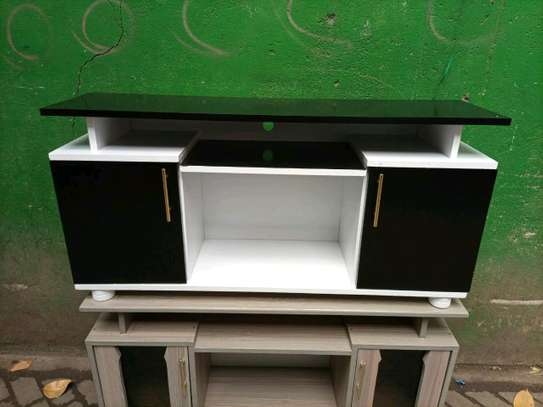 Black and white TV stand 708f image 1