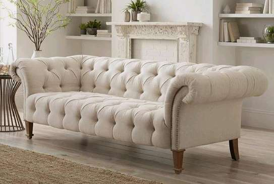 Latest chesterfield sofas for sale in Nairobi Kenya/beige three seater sofa/tufted sofa image 1