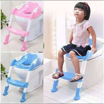 Kids Potty Toilet Training Seat With Adjustable Ladder image 2