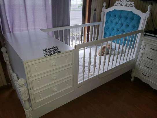 Baby beds/white baby cots for sale in Nairobi kenya/Kid's Furniture stores in Nairobi Kenya image 1