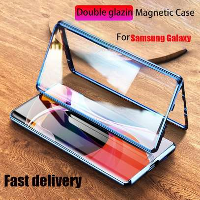 Magnetic Double-sided 360 Full Protection Glass Case for Samsung S21 S21 Plus S21 Ultra image 5