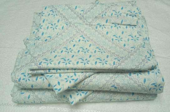 bed sheets doted blue image 1