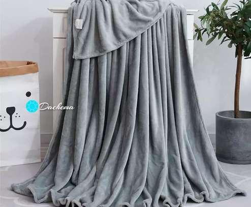 light grey fleece blankets image 1