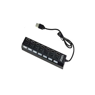 Generic USB HUB 7 Port USB Hub With Switch image 1