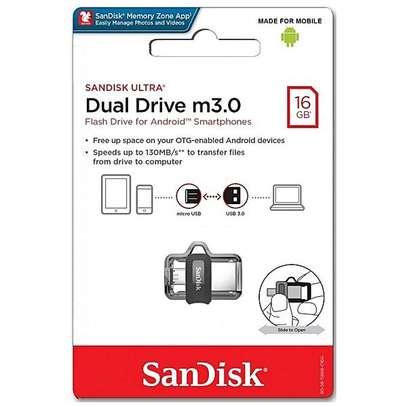 SanDisk 16GB Ultra Dual m3.0 USB 3.0 OTG Flash Disk Drive image 4