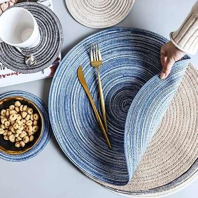 Cloth round kitchen mat image 1