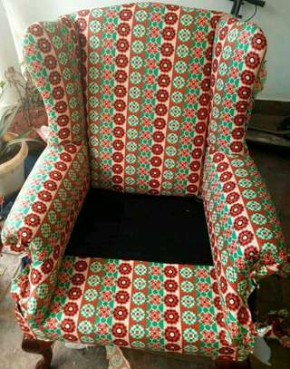 Kitenge Armchairs/Wing back chairs image 1