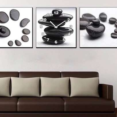 Black 3piece wall clock