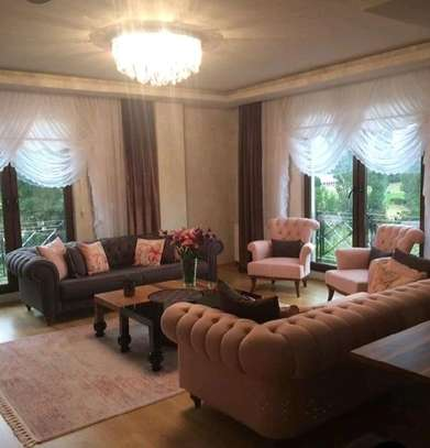 Modern sofa designs/complete set of sofas/two three seater and two one seaters image 1