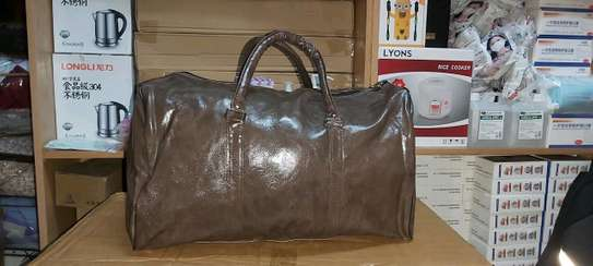 Duffle leather travel bags image 2
