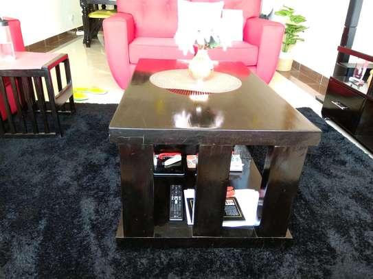 Modern Black Wood Coffee Table image 3
