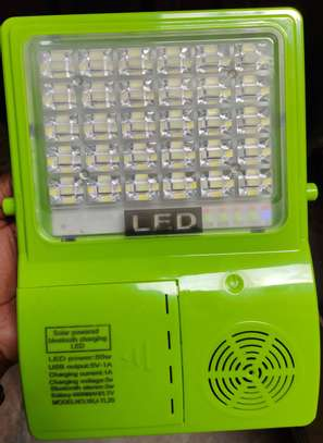 3 IN 1 Bluetooth solar LED flood light speaker rechargeable portable phone charger image 6
