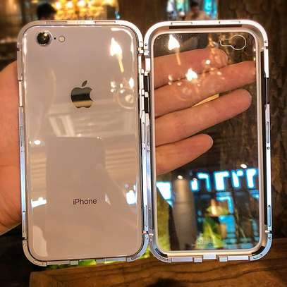 Magnetic Luxury Absorption Cases For iPhone 6 6S With Clear Back Glass image 1