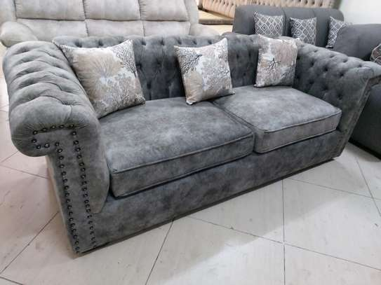 Three seater chesterfield sofa image 1