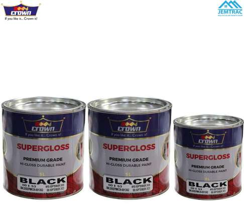 1L CROWN SUPERGLOSS BLACK image 1