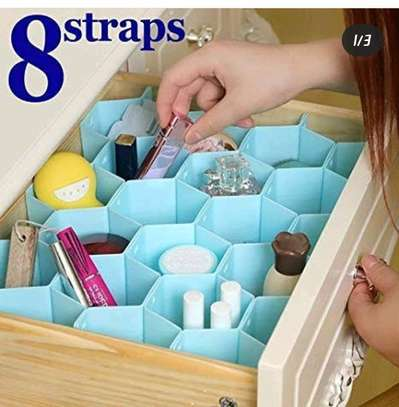 8 strap drawer organizer image 3