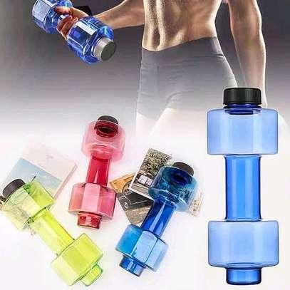 Dumbbell shaped water bottle image 2