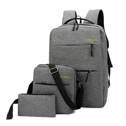 back pack bag - Grey image 1