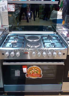 Von Hotpoint F9E50E2/F9E42G2.IL.S/VAC9F042W 4 Gas + 2 Electric Cooker - Stainless steel