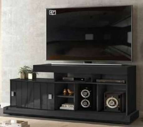 Quenia Black Glossy TV Stand image 1