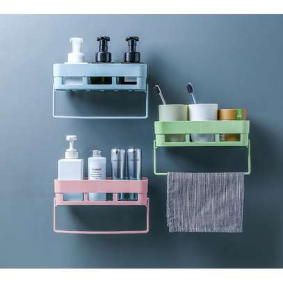 Multi-functional Bathroom Storage Rack Holder Towels Rack Shaver Tooth Brush Dispenser Bathroom Organizer Accessories image 4