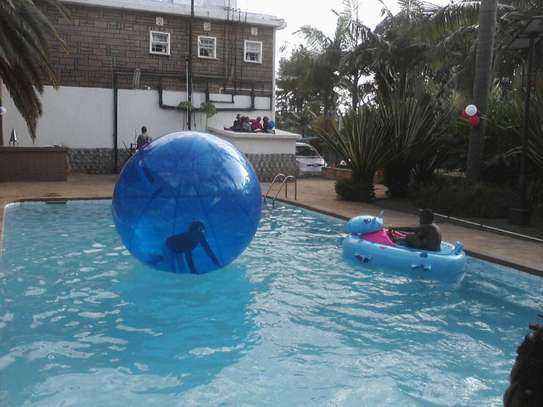Electric boats,air balls and  water pools for hire image 2