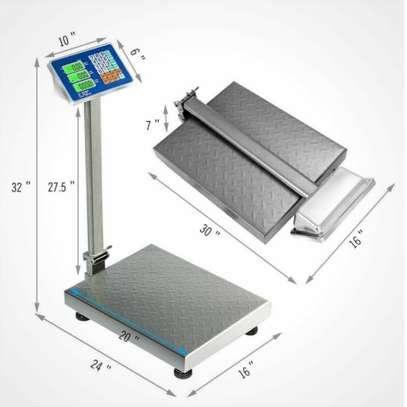 Digital Postal Platform Scale 660lb Weight Shipping Foldable Supermarkets LED image 2
