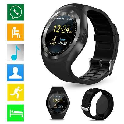 Y1 Smart Watch Round Bluetooth Smartwatch with SIM Card image 1