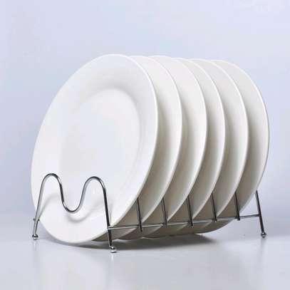 *A set of 6 opal white plates image 1