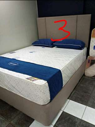 Queen Size 5 by 6 Bed Set: Orthopaedic/Posturepaedic 10 thick Quilted Mattress+Bed+Headboard brand new free delivery image 3
