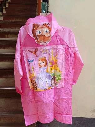 Girls Cartoon Raincoat image 4