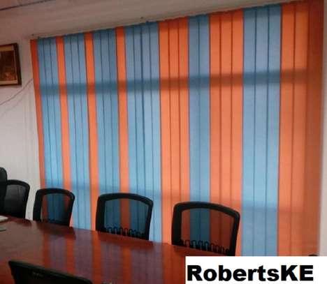 window blinds orange and blue image 1