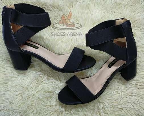 Open chunky heels image 6