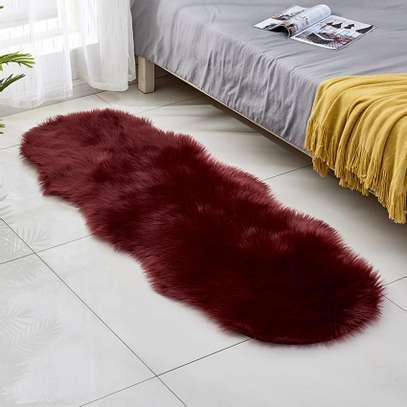 Bedside fur mat image 1