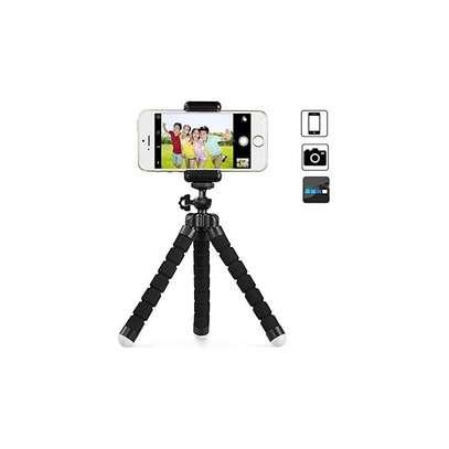 Flexible smartphone ,Webcam Portable Sponge Camera Tripod- Black image 1