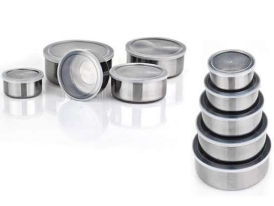 Stainless Steel Storage Food Bowl Containers - Set of 5 image 3