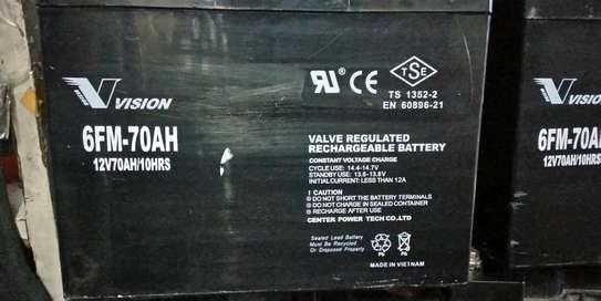 Vision Valve Regulated Rechargeable Battery 12v/70ah/10hr image 1