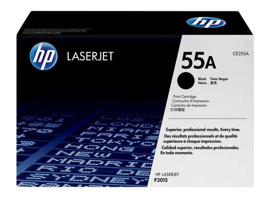 HP 55A Black Original LaserJet Toner Cartridge (CE255A) image 1