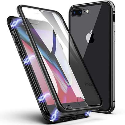 Magnetic Double-sided 360 Full Protection Glass Case for iPhone 7/8 image 1