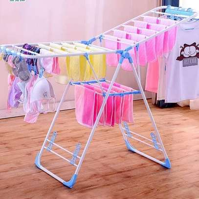 FOLDABLE  TIER INDOOR/OUTDOOR CLOTHES DRIER RACK image 1