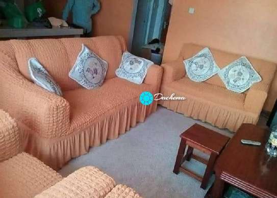 light brown 7 seater sofa covers image 1