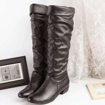 Leather high knee boots image 2