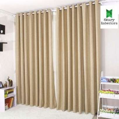 Window curtains brown with free sheers image 1