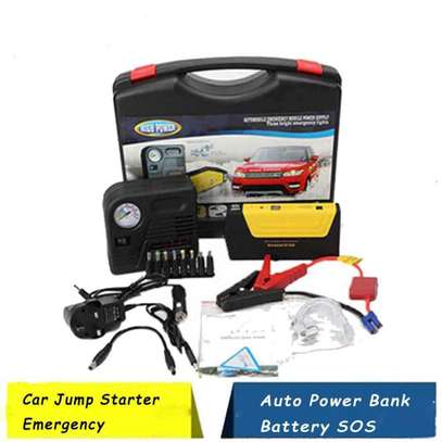 Car Jump Starter Power bank Battery with Air compressor 68800mAH Multi functional image 1