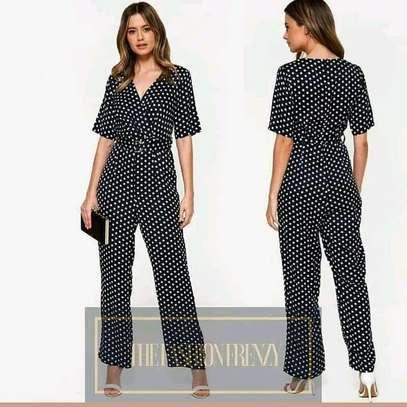 Black Polka Jumpsuit image 1
