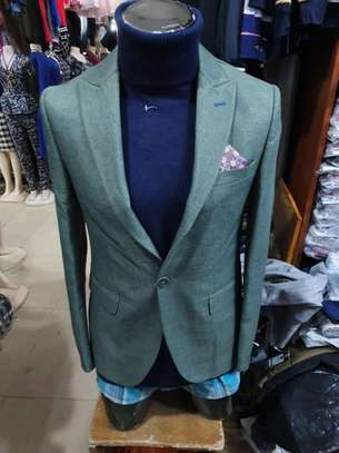 Slim Fit Single One Button Blazer Jackets for Men image 6