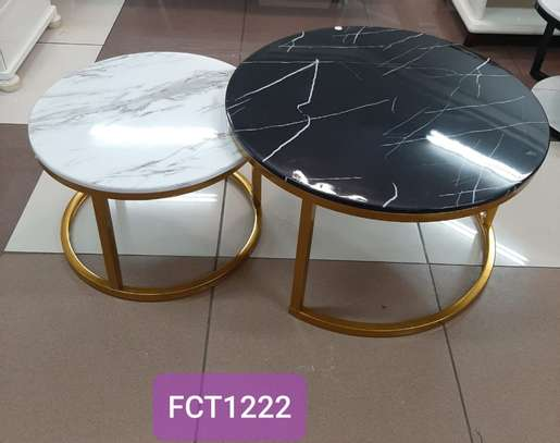 Interlocking Marble Tables image 1