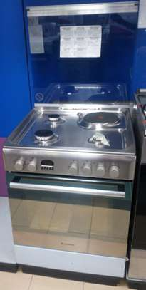 Ariston CX61 S P6 XT (S)/A6MMC6AF (X) I 3 Gas & 1 Electric Cooker - Stainless Steel