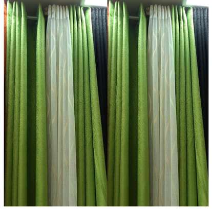 green curtains image 1